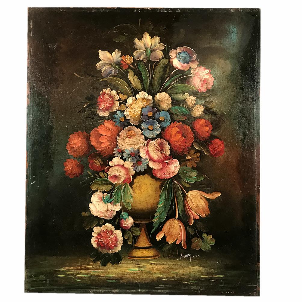 huile-toile-bouquet-de-fleurs