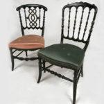 chaises-napoleon-iii-bois-noirci