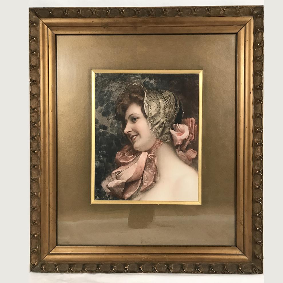 portrait-jeune-femme-reproduction-encadree