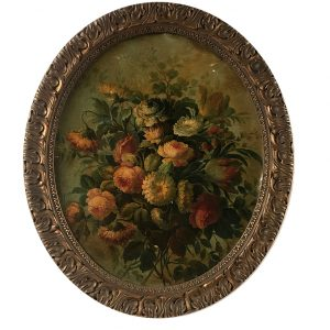 tableau-ovale-bouquet-de-fleurs