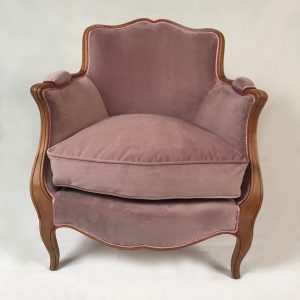 bergere-louis-xv-velours-rose
