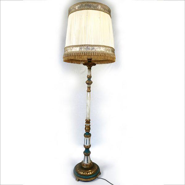 lampadaire-bois-polychrome-et-dore