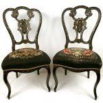 chaises-napoleon-iii-bois noirci