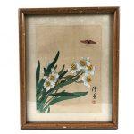 peinture-tissu-fleurs-papillon