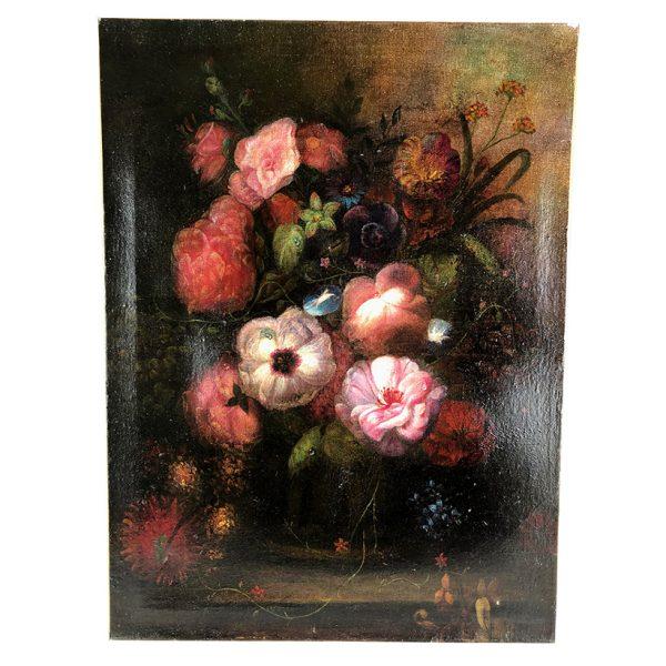huile-sur-toile-bouquet-fleurs