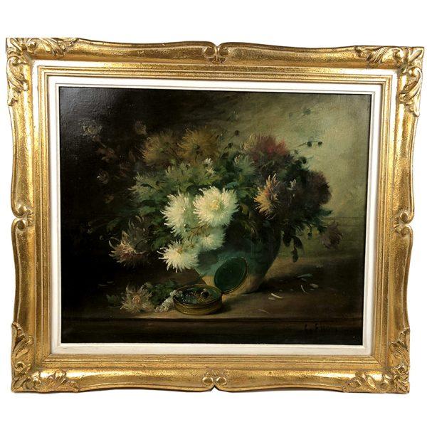 tableau-bouquet-de-fleurs-xixe
