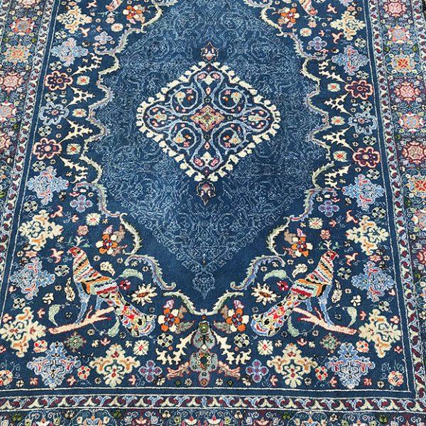 tapis-bleu-marocain-fait-main
