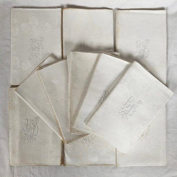 serviettes-de-table-anciennes-chiffrees